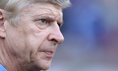 "Pic.3: The meditative face of Wenger when Arsenal got in the ""Death table"""