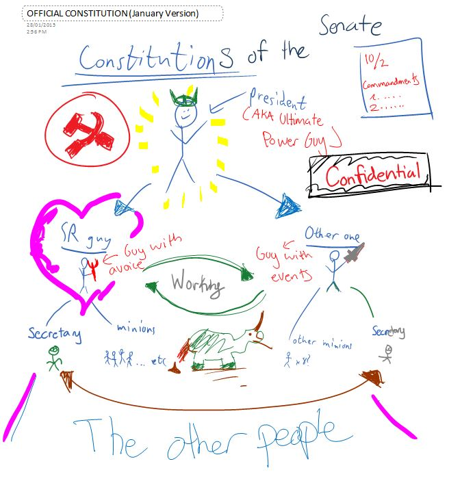 Summary of the Senate Constitution drawn by the Big 3