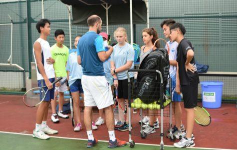 Varsity Tennis Team Assembles