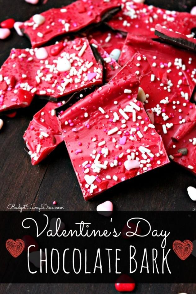 Mia's Food Corner: Valentine's day no-bake chocolate bark