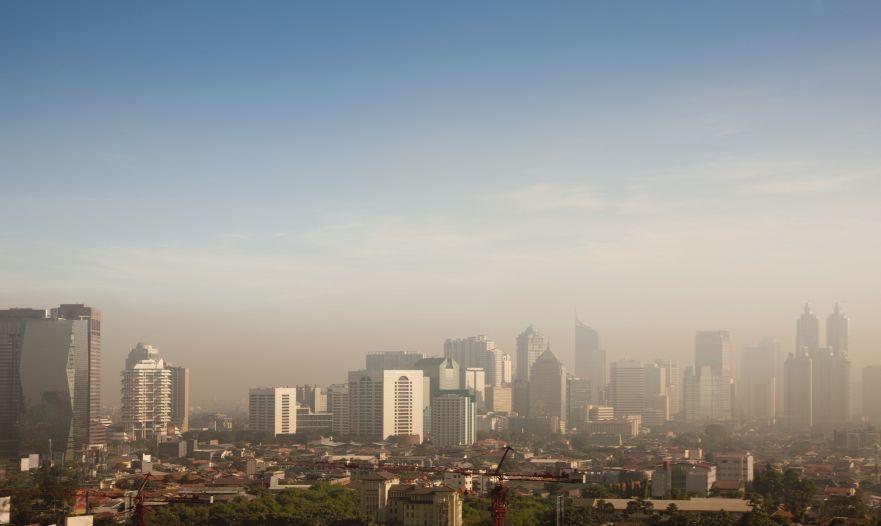 Smog over high rises in Hanoi