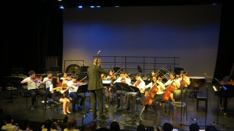 The String Orchestra, comprising of both MS and HS students