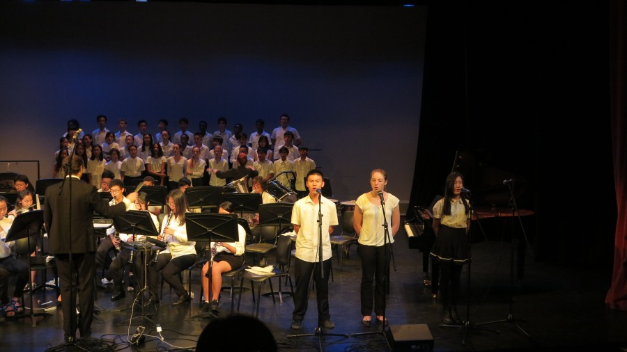 The choir also participated in the concert - along with the HS Band