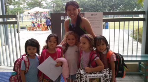 Seyon Park (11) and K2 students