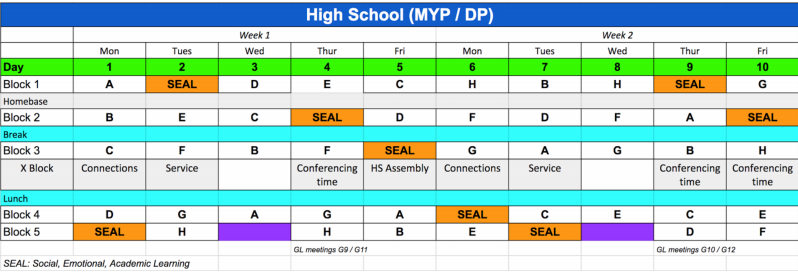 High School Adjusts To A New Schedule