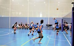Student athletes play volleyball at UNIS.